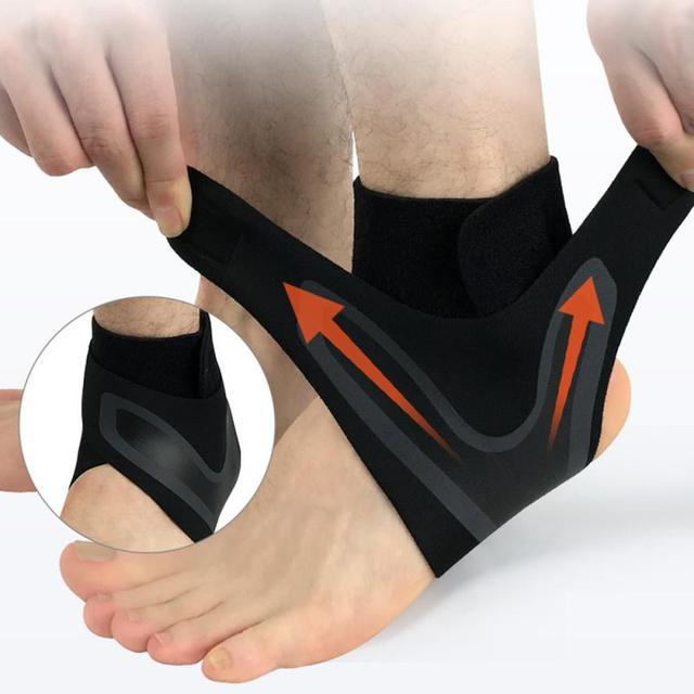 Soporte de tobillo 1 uds, protección de vendaje de pie de Ajuste libre de elasticidad, protector deportivo de prevención de esguince, banda de Fitness 8 1