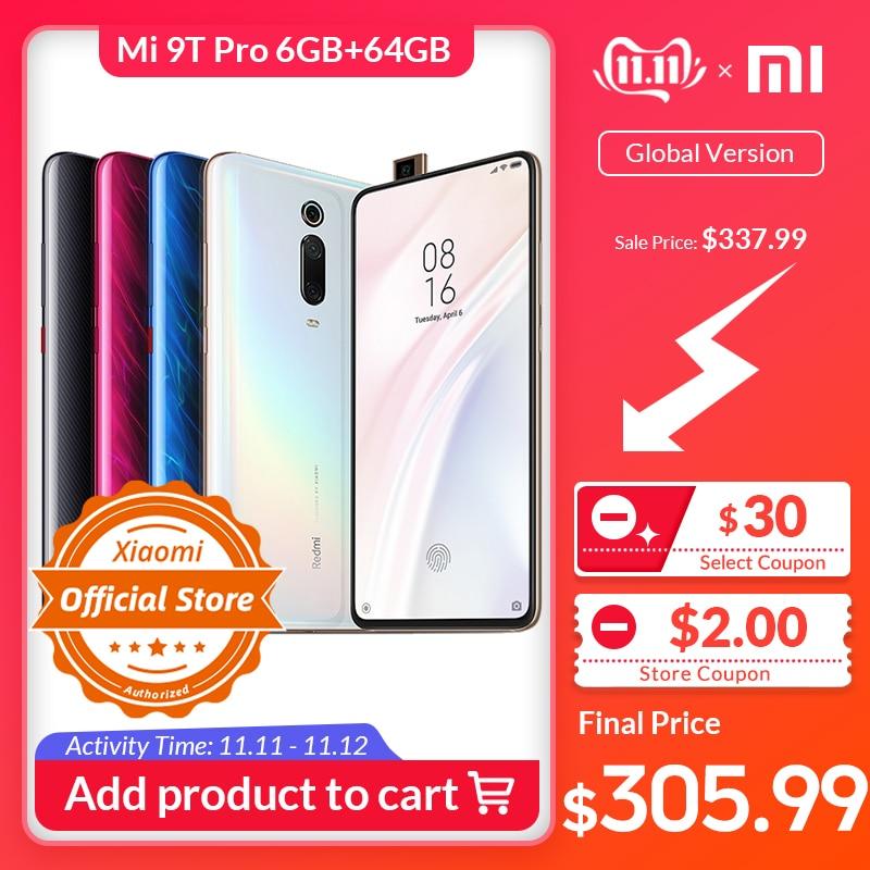 Xiaomi Mi 9T pro 6GB 64GB Global Versão Smartphone Snapdragon 855 48MP Câmera 4000mAh 6.39