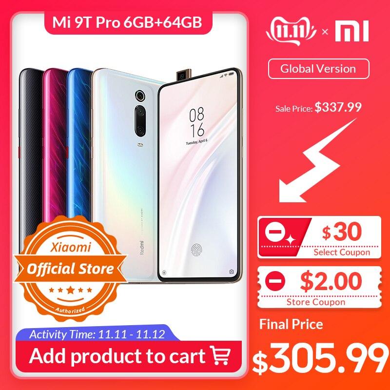 Xiaomi Mi 9T pro 6GB 64GB Version mondiale Smartphone Snapdragon 855 48MP caméra 4000mAh 6.39 dans l'écran touche Popup QC 4.0