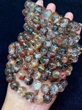 Natural Colorful Phantom Quartz Women Man Reiki Clear Garden Power Round Beads Stretch Crystal Bracelet 15mm AAAAA