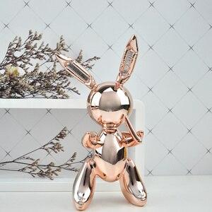 Image 2 - balloon rabbit sculpture home decoration art and craft garden decoration creative statue