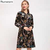 Jesień aksamitne welurowa sukienka kobiety Plus rozmiar 5XL z długim rękawem na co dzień wiosna Party biuro sukienka szata Vestidos Mujer Jurken Sukienki