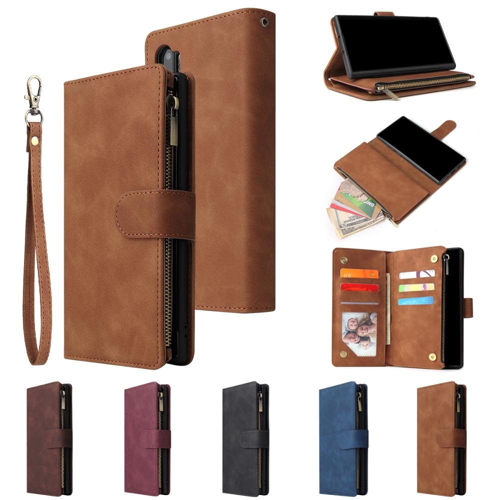 Leather For Samsung Galaxy S20 Ultra S8 S9 S10 S11 E Plus Lite Case Magnetic Leather Flip Wallet Stand Cover Mobile Phone Cases