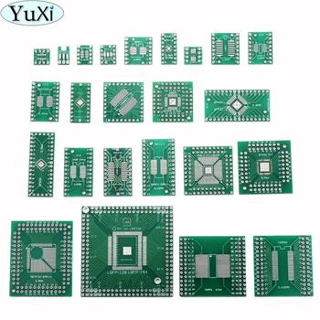 YuXi Adapter PCB Circuit Board Kit SMD QFP LQFP QFN Turn To DIP SOP SSOP TSOP SOT23 8 10 14 16 20 24 28 SMT To DIP ka3842b ka3842 dip 8