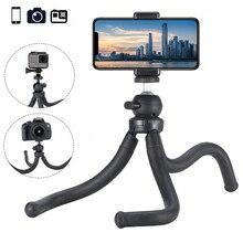 Ulanzi MT 07 polvo flexibletripé 360 panorâmica bola cabeça para o iphone xs x, monopé para nikon canon dslr câmera gopro herói