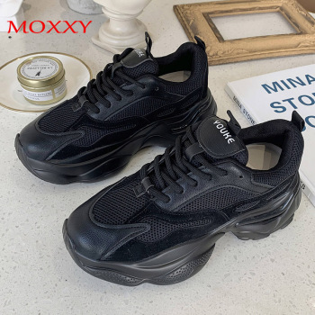 Black Sneakers Women Platform Shoes 2020 Chunky Beige Trainers Breathable Sneakers Gray Woman Vulcanize Shoes Basket Femme habuckn 2020 new white leisure sneakers women shoes chunky sneakers platform vulcanize shoes woman breathable mesh sequins
