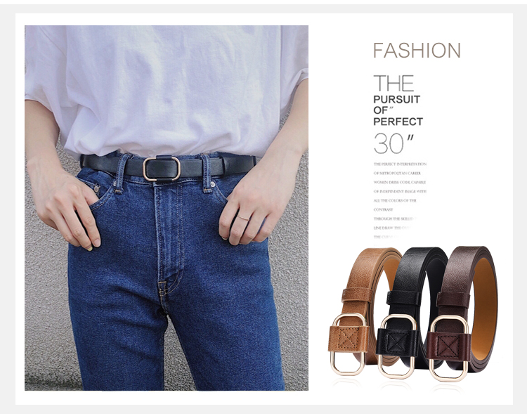 He1b132693f4a4a99846f3a51986cf083D - NO.ONEPAUL New fashion designer design ladies luxury brand belt authentic leather ladies trend retro punk student youth belts