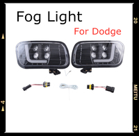 for 09 12 Dodge Ram 1500/2500/ 3500 Smoke Lens LED Fog Light Fog Lamp
