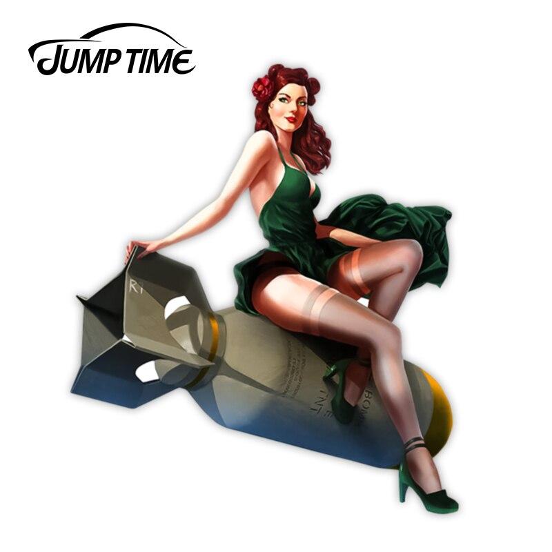 JumpTime 13 см x 11,3 см винтажные гоночные инструменты для девочек виниловая наклейка Ретро автомобильные наклейки водонепроницаемые автомобиль...