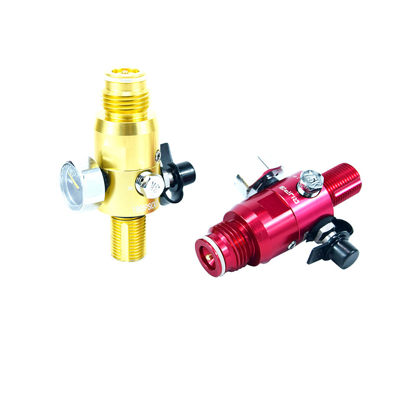 PCP Airforce HPA Regulator 4500PSI 1800PSI Output 5/8-18UNF Draft Green Red Blue