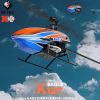 WLtoys New XK K127 RC Helicopter 4CH giroscopio a 6 assi 2.4G Radio Flybarless RC elicotteri Flying Drone giocattoli modello regalo aereo Rc
