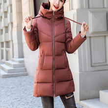 Hooded plus thick warm down jacket 2019 winter womens long slim slimming