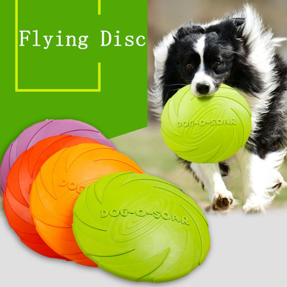 1 Pcs Resistance Bite Soft Rubber Puppy Pet Toy Interactive Dog Chew Toys for Training Products Frisbie Flying Discs
