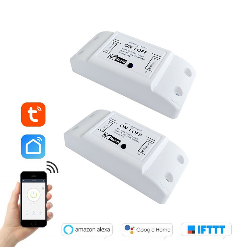 DIY WiFi Smart Light Switch Breaker Timer Wireless Remote Control Works With Alexa Google Automation Relay Module Controller