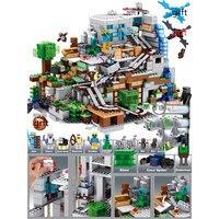 호환 Lepinedly Playmobil 내 세계 동굴 빛 내 인물 세계 마을 드래곤 21137 빌딩 블록 어린이위한 장난감