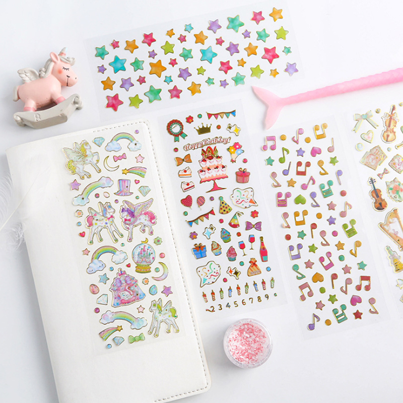 1pcs/pack Korean Transparent Kids Gift Diy Scrapbooking Stickers For Decoration Photo Album