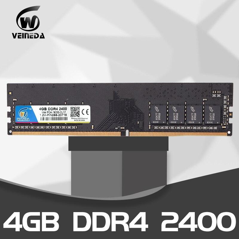 VEINEDA Memoria Ram Ddr 4  4gb DDR4 2666 2400 2133mhz 1.2V DIMM Desktop Memory Support Motherboard Memoria Ddr 4