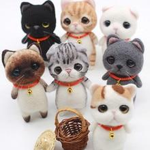 Jiwuo クリエイティブ手作りペット玩具人形ウールフェルト針つついキッティング diy かわいい動物猫非完成品ウールフェルト材料