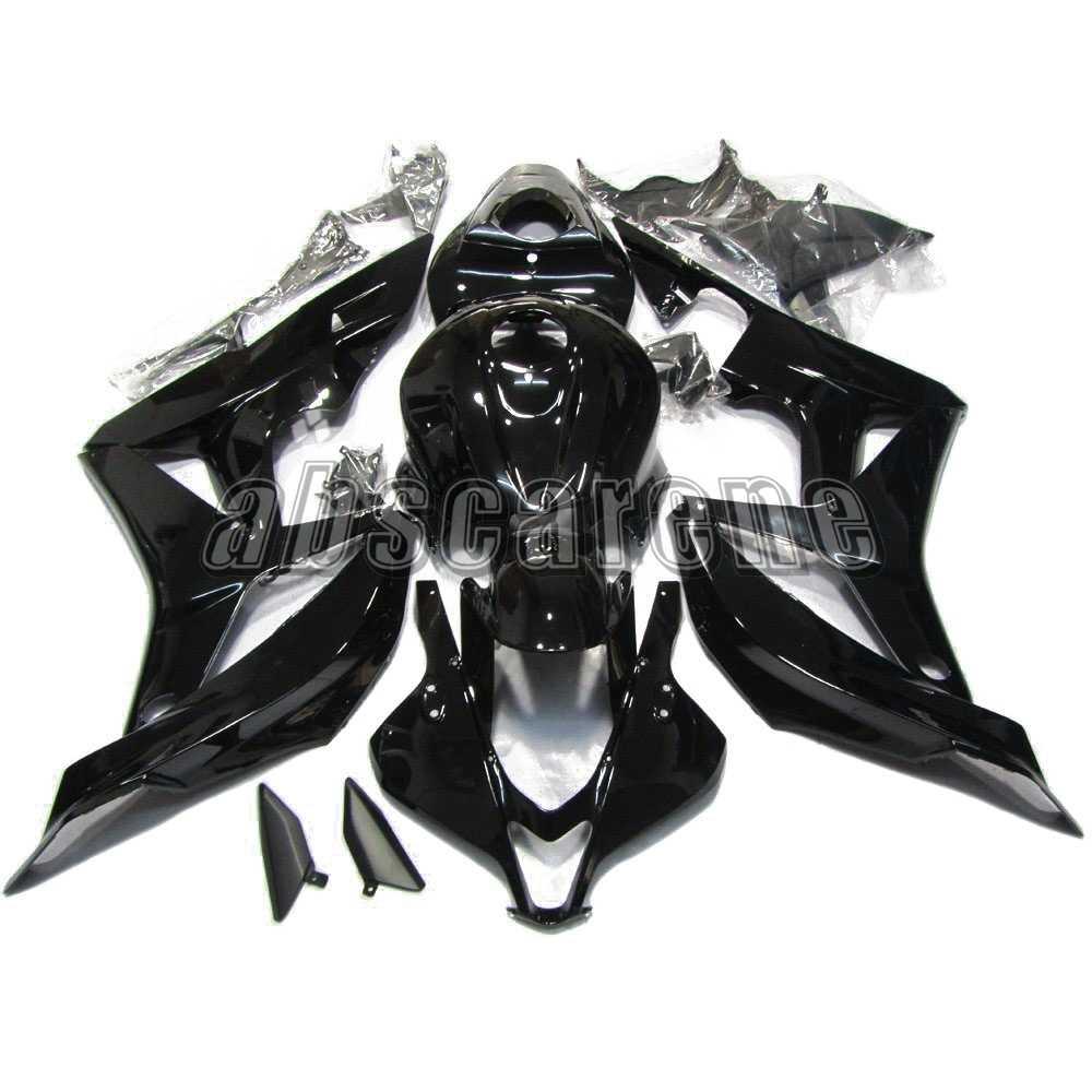 מלא מעטפת עבור הונדה CBR600RR F5 2007 2008 CBR 600 RR CBR 600RR 07 ABS פלסטיק הזרקת אופנוע כיסויים מבריק טהור שחור