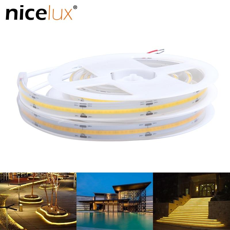 0.5/1/2/3/5meter Solid Casing COB LED Strip Outdoor Waterproof IP67/IP68 LED Strip Light Hollow Casing DC24V 352LEDs/m