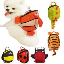 Harness Travel-Bags Pet-Dog-Backpack Puppy School-Bag Cat Dourable Outdoor Cartoon Cute