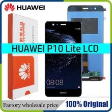 Tela lcd de 5.2 original para huawei p10 lite, display touch screen com quadro para huawei p10 lite tela lcd was lx1 was lx1a nova lite
