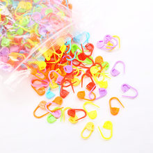 100 шт./лот разноцветные пластиковые инструменты для вязания, фиксирующие маркеры для вязания крючком, инструменты для вязания крючком