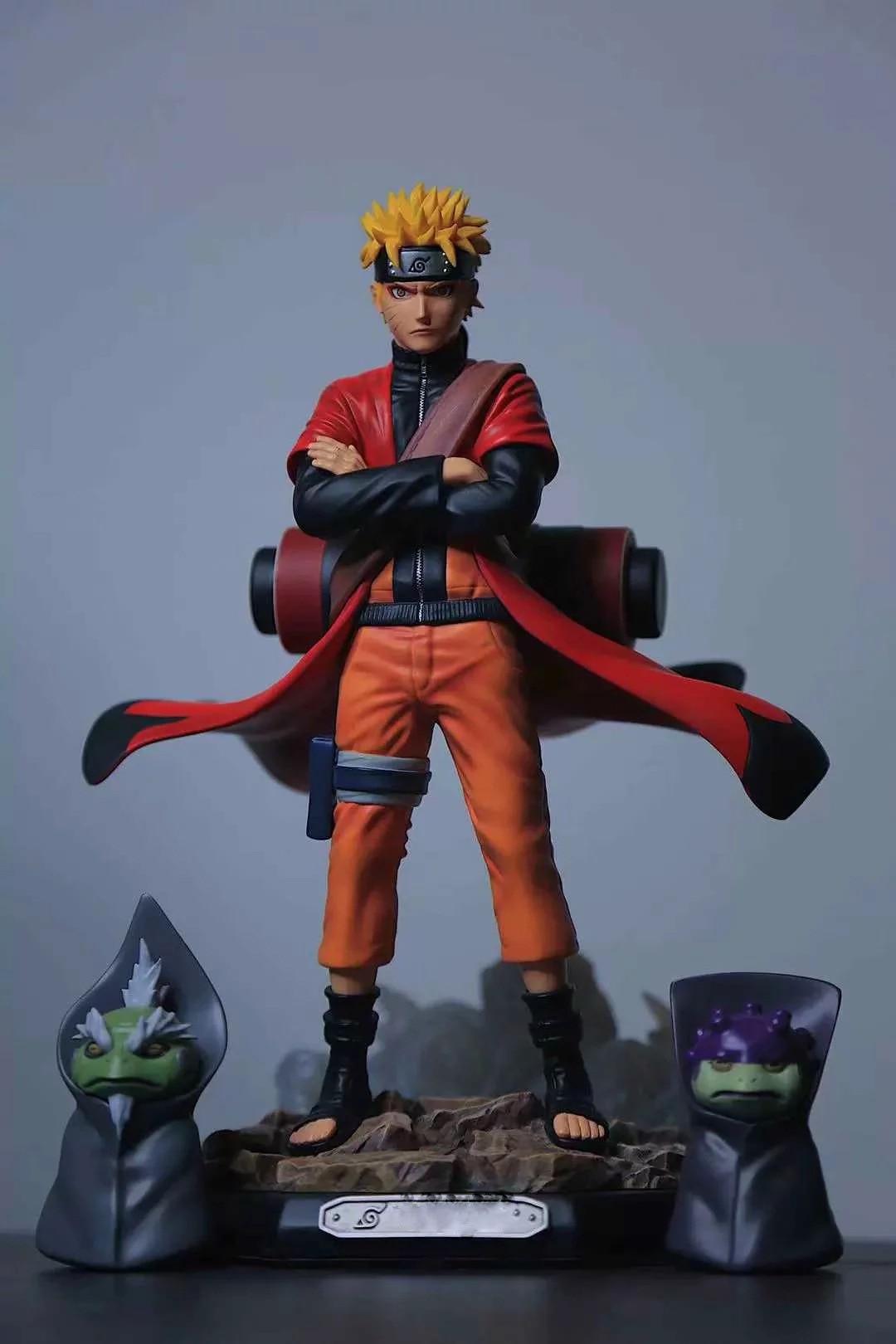 Yaya Anime Naruto Uzumaki Naruto GK Naruto Sage Mode Toad Statue Boxed Garage Kit
