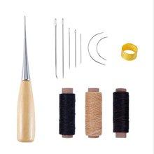 1 zestaw wymiana igły do szycia szydło skóra Craft akcesoria do szycia szydło do szycia narzędzia do naprawy obuwia skórzanego tanie tanio DUUTI cotton +wood +metal other