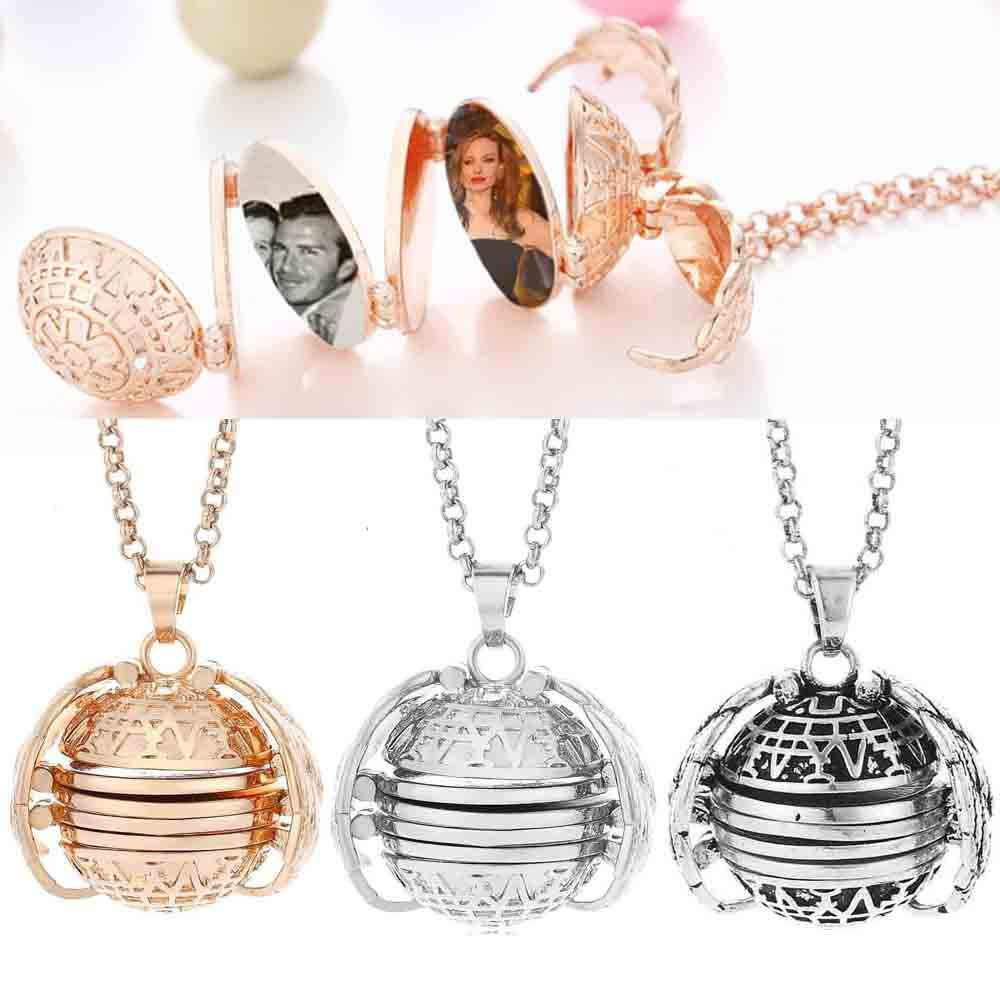 Opvouwbare Magic Photo Memory Drijvende Medaillon Hanger Ketting Ketting Engelenvleugels Doos Familie Vriend Coulpe Lover Charm Jewelry Gift