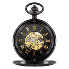 Fob Watches Mechanical Clock Skeleton Hand-Wind-Up Classic Retro Vintage Brand New Fashion