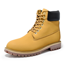 Genuine Leather Men Martin Boots Autumn Winter Shoes Men Warm Ankle Boots Men's Snow Work Boots Unisex Footwear Plus Size 35-45 цены онлайн