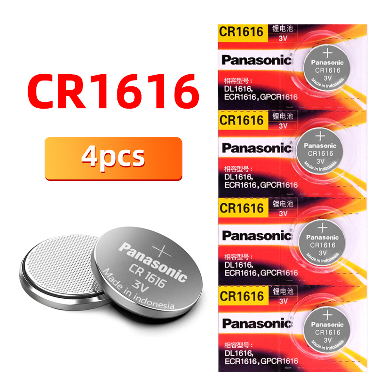 Sweet-Tempered Brand New Panasonic 4pcs Cr1616 Coin Cell Button 3 V Batteries For Auto Remote Control Electric Remote Control Elegant Shape