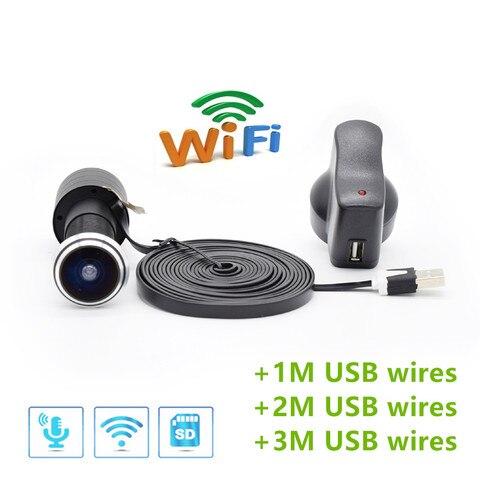 tf cartao wi fi de audio porta olho buraco casa 1080 p 1 78mm grande