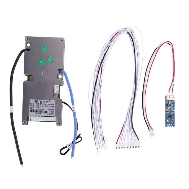 Lithium Battery Protective Board With Bluetooth 14S BMS PCB Mobile Static Current Intelligent 48V Components Smart Protection