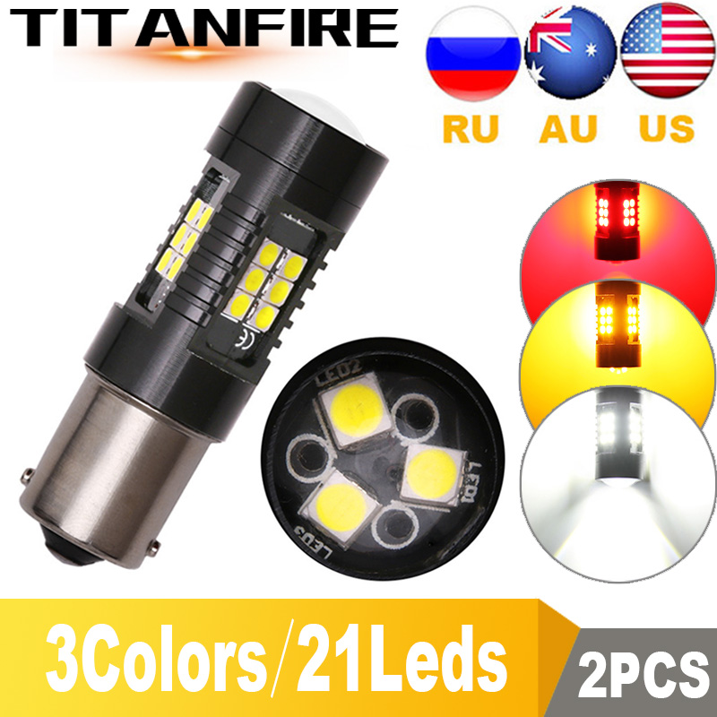 TF30 2Pcs 1156 <font><b>BA15S</b></font> P21W <font><b>LED</b></font> BAU15S BAY15D PY21W <font><b>LED</b></font> Bulb 1157 P21/<font><b>5W</b></font> <font><b>R5W</b></font> 21pcs 3030SMD Auto Lamp Bulbs Car <font><b>LED</b></font> Light <font><b>12V</b></font> - 24V image