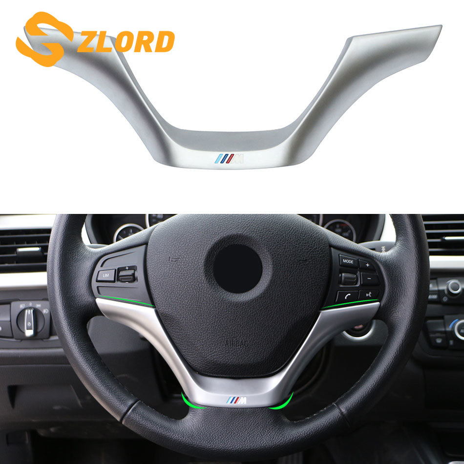 Large Size Steering Wheel Decor Cover Car ABS Steering Wheel Decor Cover Trim for 1 3 Series F30 F20 2013-2016