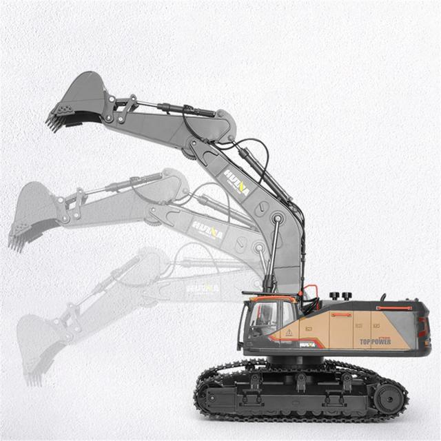 RCtown HuiNa 1:14 1592 RC Alloy Excavator 22CH Big RC Trucks Simulation Excavator Remote Control Vehicle Toy for Boys 3