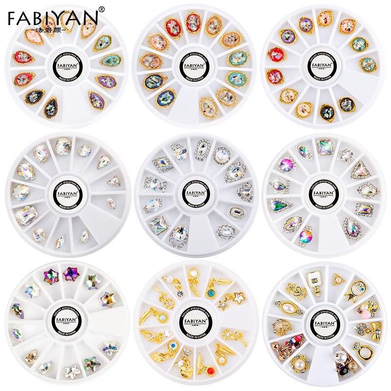 Nail Art roue strass diamant gemmes métal AB cristal paillettes 3D conseils Accessoires bijoux manucure outils décoration bricolage Design