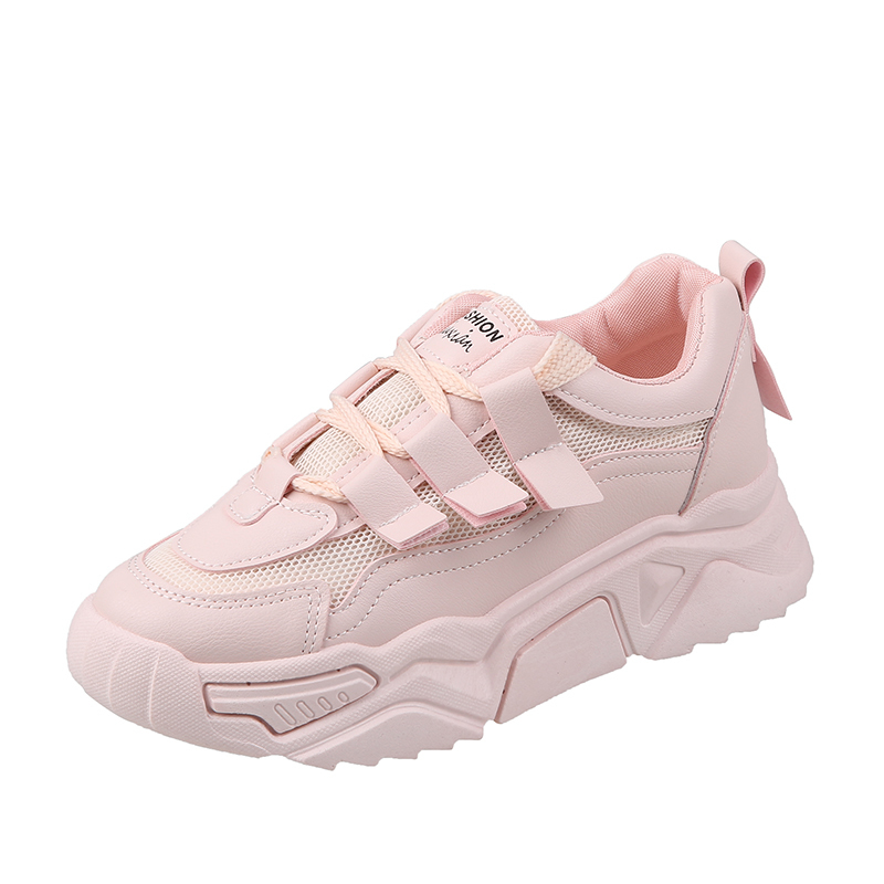 2020 New Spring Fashion Women Casual Shoes Breathable Mesh Platform Sneakers Pink Shoes Woman Tenis Zapatillas Mujer Dad Shoes