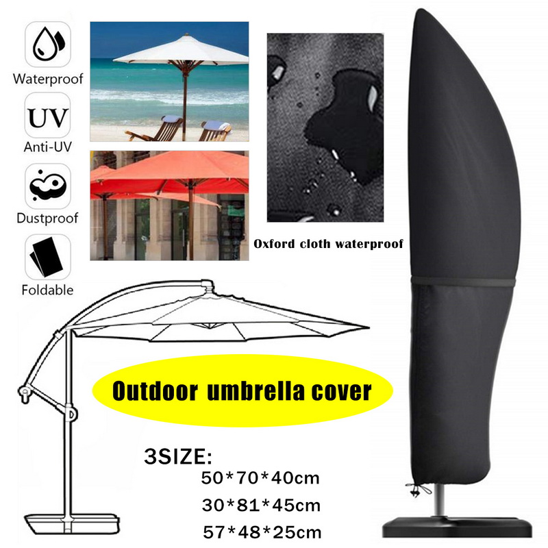 Table Umbrella Cover Heavy-Duty Protective Cover Sun Shading Umbrella CoverSun proof for 6ft-8ft Table Garden Umbrellas