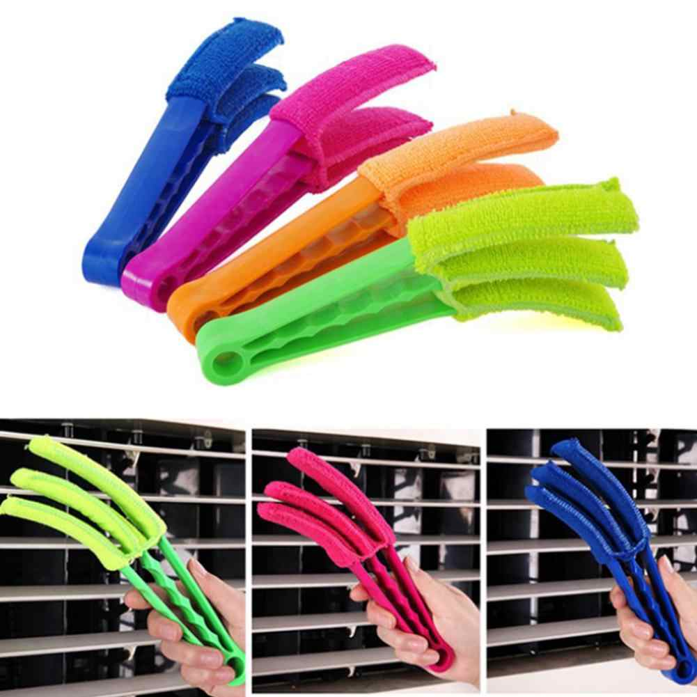 Microfiber Window Cleaning Brush Useful Air Conditioning Dust Cleaner with Washable Cleaning Cloth with Handle