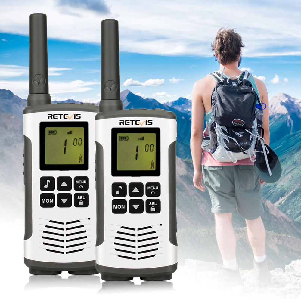 Retevis RT45 PMR Radio Mini PMR Walkie Talkie 2 Pcs 0.5W PMR446 PMR 446 FRS Two-Way Radio Camping/Hiking/Traveling Walkie-Talkie