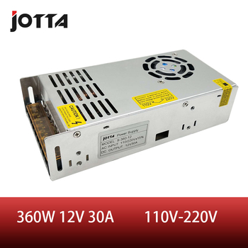цена на 360W 12V 30A LED Strip CNC 3D Print Small Volume Single Output Transformer AC To DC Switching power supply