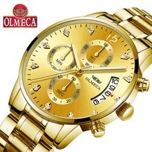 Top Brand Men's Watch OLMECA Quartz Watches Relogio Masculino Fashion Complete Calendar Wrist Watch 30M Waterproof Watch For Men