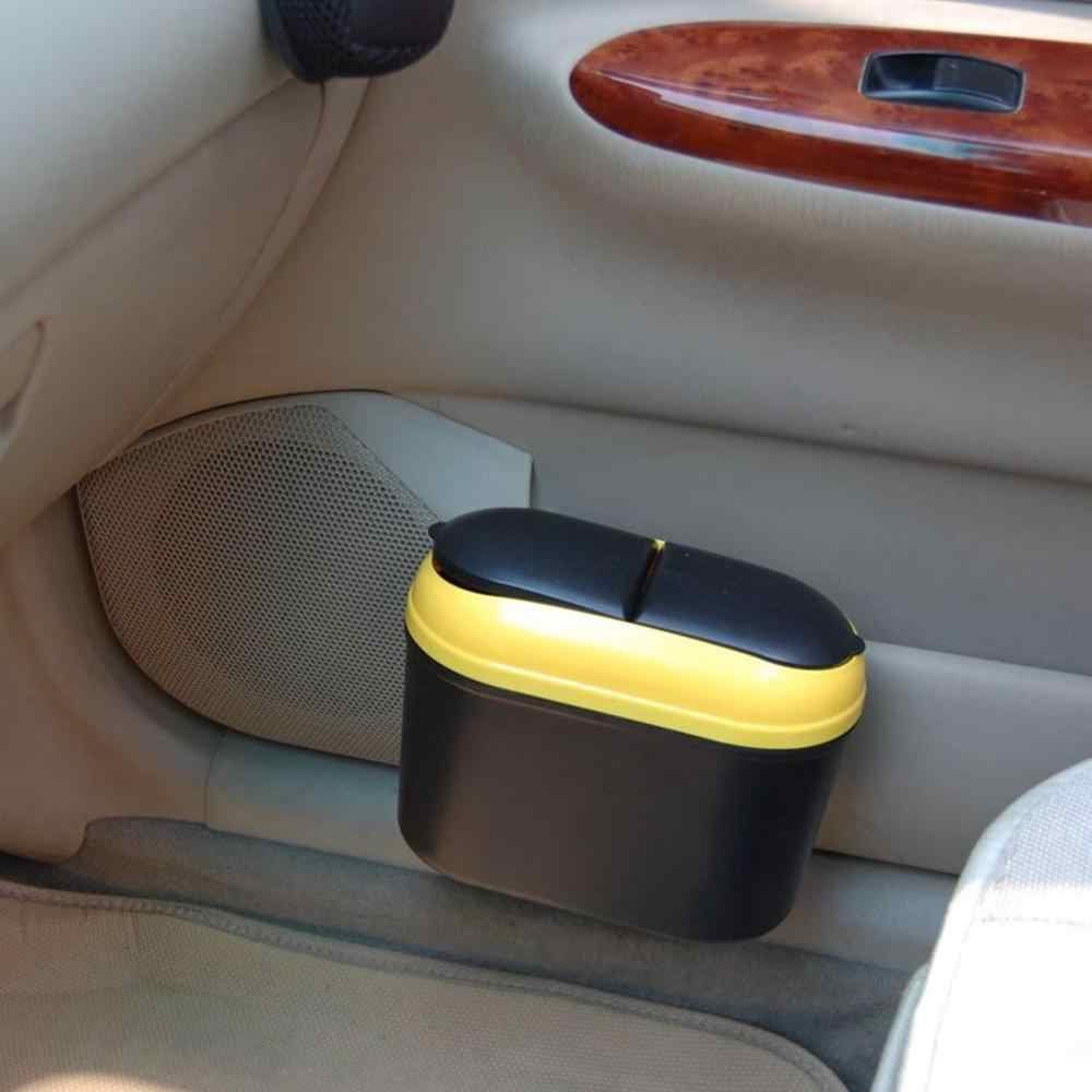 Creative Flip Cover Car Trash Can Auto Car Mini Hanging Garbage Dust Box Detachable Side Door Hanging Trash Bin
