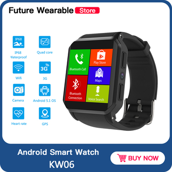 KOSPET KW06 Android Smartwatch Bluetooth Call 1.54 Inch TFT IP68 Waterproof Heart Rate Monitor Pedometer sport Wristwatch