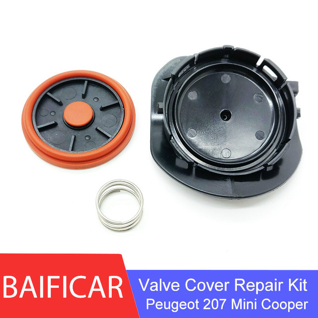 Baificar Brand New PCV Valve Cover Repair Kit Valve Cap With Membrane For Peugeot 207 EP6 VTI Citroen MINI Cooper N12 N16