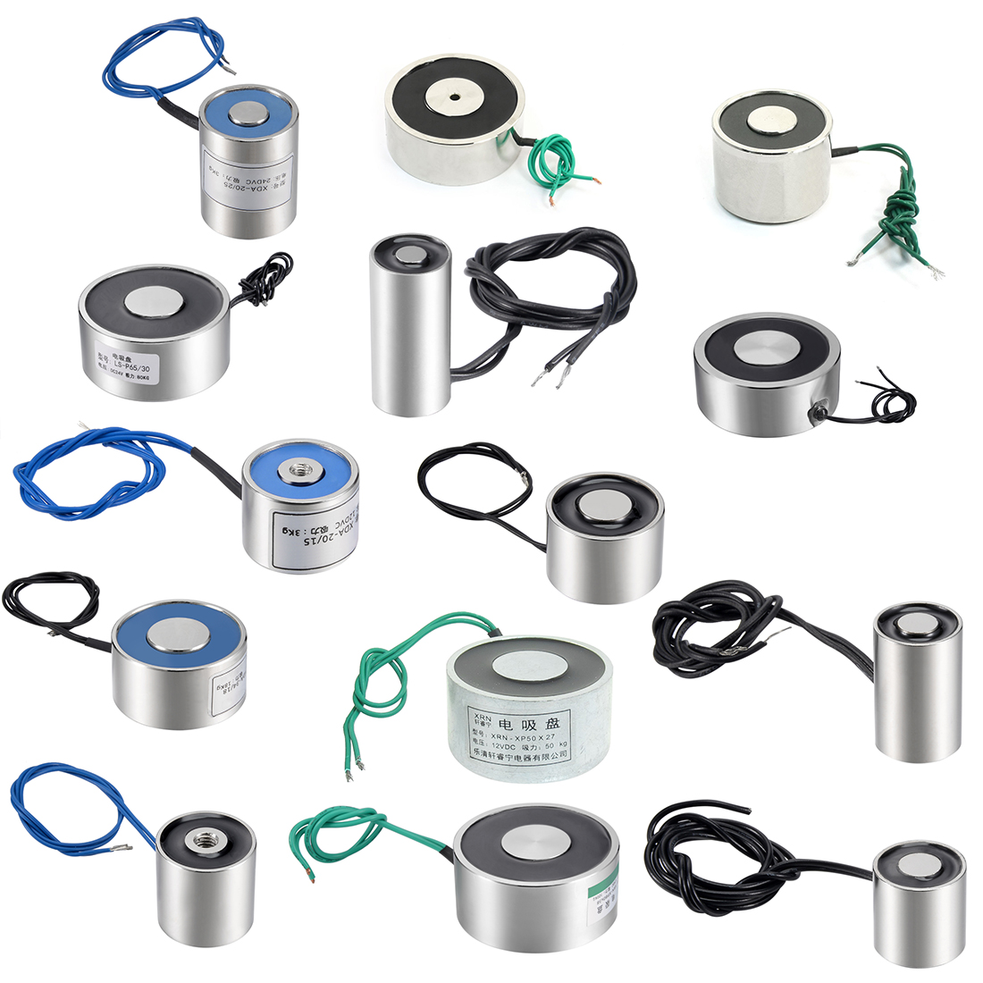 Uxcell 6W 180N Sucking Disc Solenoid Lift Holding Electromagnet
