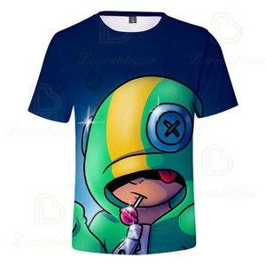 Image 5 - 2 ila 13 yıl çocuklar T shirt çekim oyunu çocuklar erkek kız kısa kollu tshirt T Shirt Streetwear karikatür çocuk t shirt
